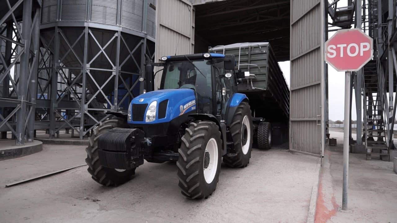 Процес вивантаження зерна на Скороходівському елеваторі