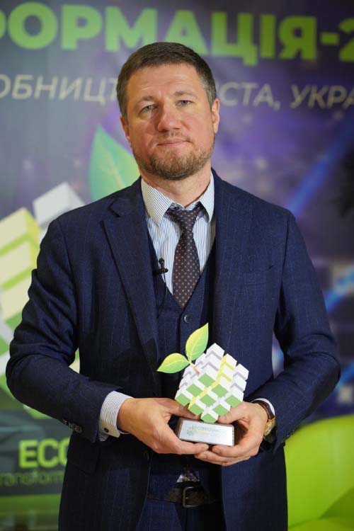 Генеральний директор ДТЕК Нафтогаз Ігор Щуров на врученні Еко-оскара