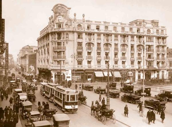 Готель AtheneePalace в Бухаресті, де в 1920-1923 рр. мешкав Остроградський (тогочасна листівка)