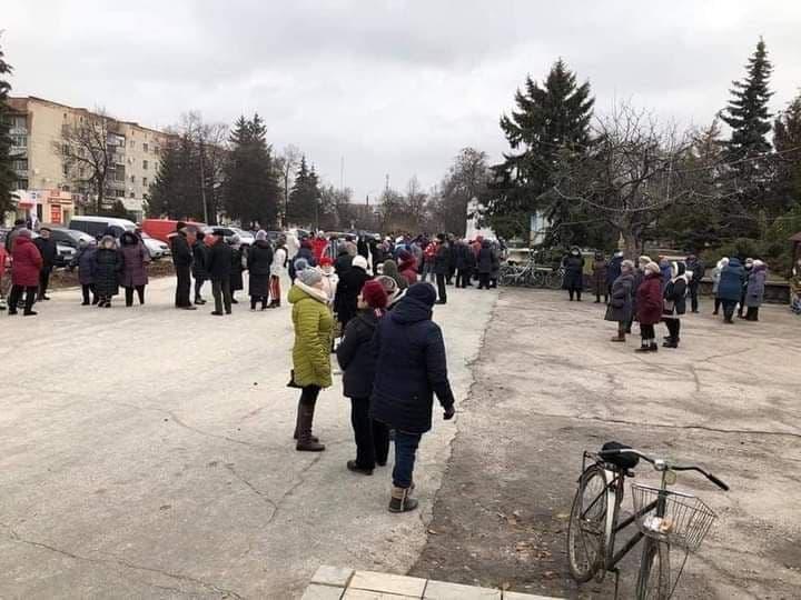 Мітинг проти зростання тарифів у Зінькові