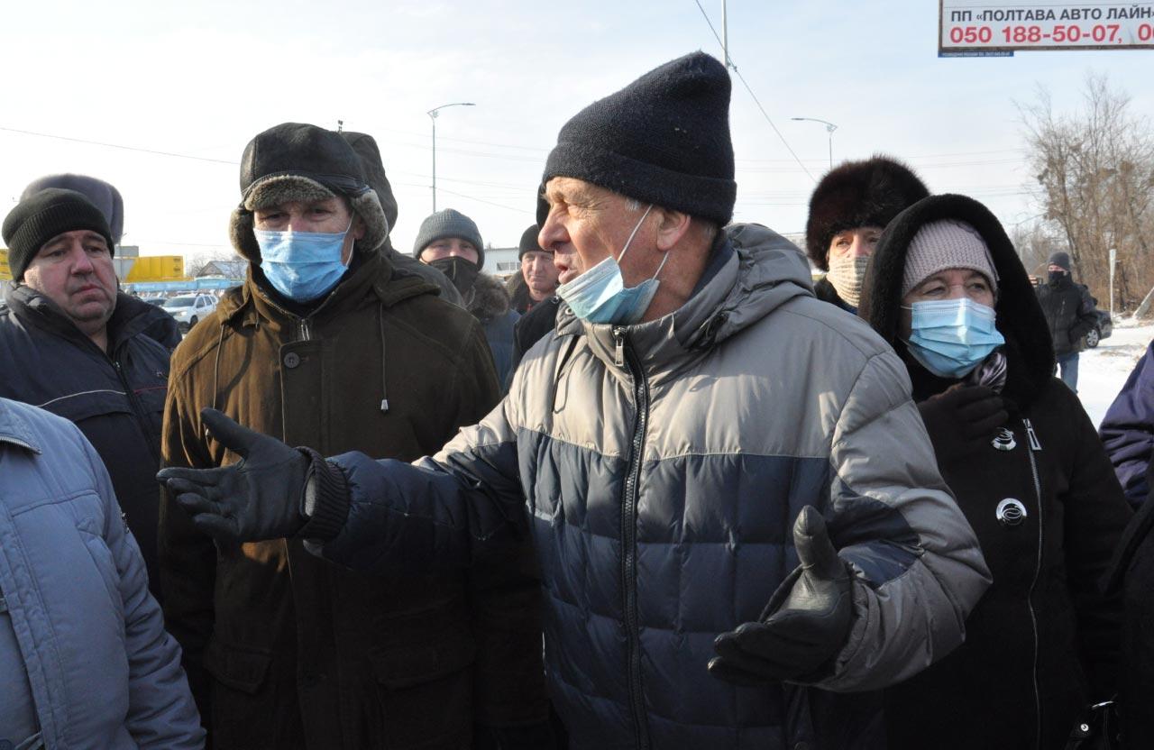 Один із модераторів протесту Сергій