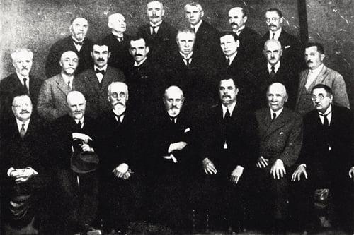 Група професорів Українського Вільного Університету. Прага, 1926 рік
