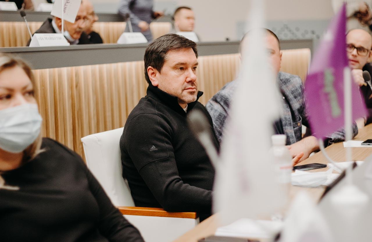 Олександр Ващенко на засіданні сесії Полтавської обласної ради 14 січня