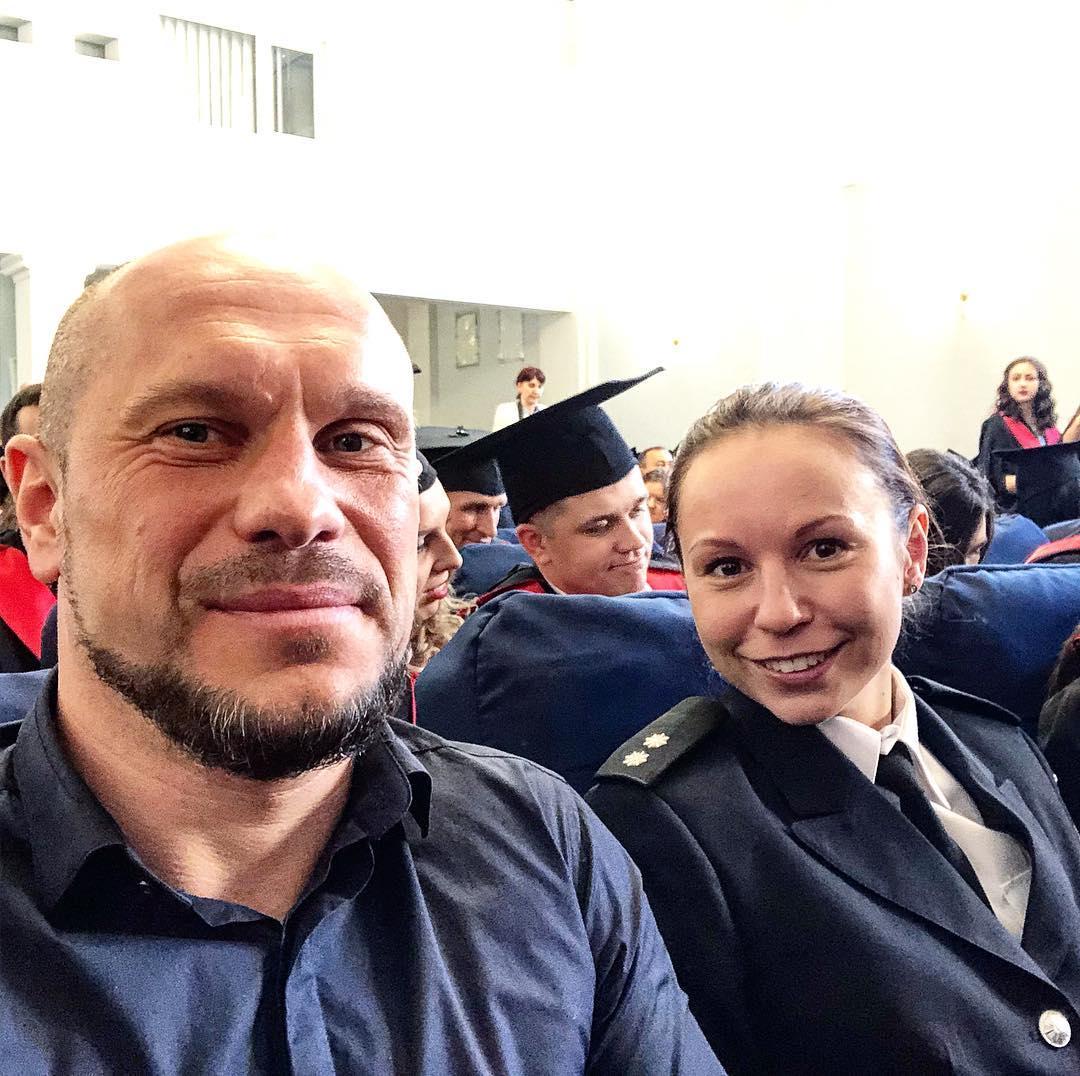 Ілля Кива з дочкою Катериною