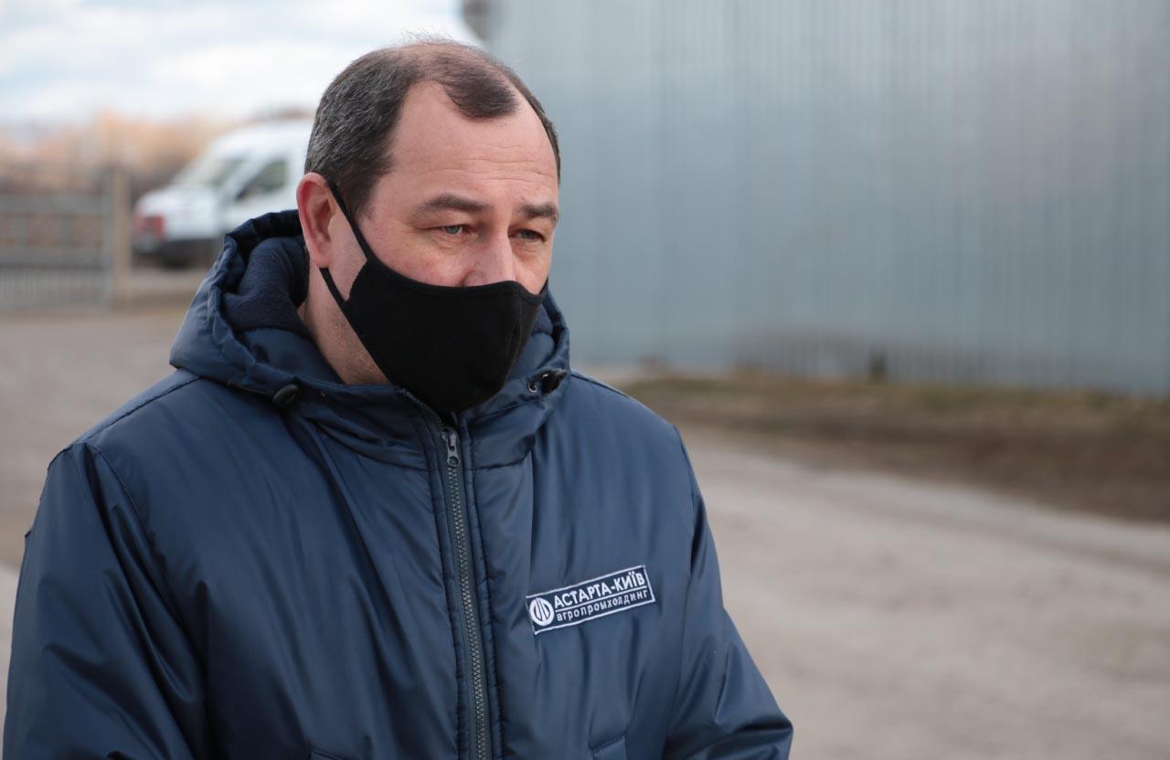 Начальник відділу охорони праці агрофірми імені Довженка Юрій Чоп