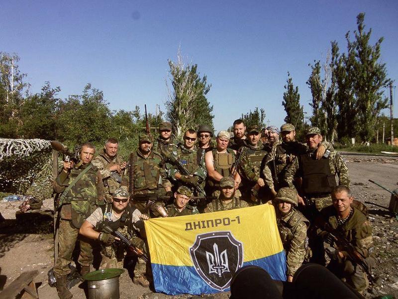 Добровольчий підрозділ «Дніпро-1», селище Піски, 2014 рік. Фото з архіву Олекси Коби