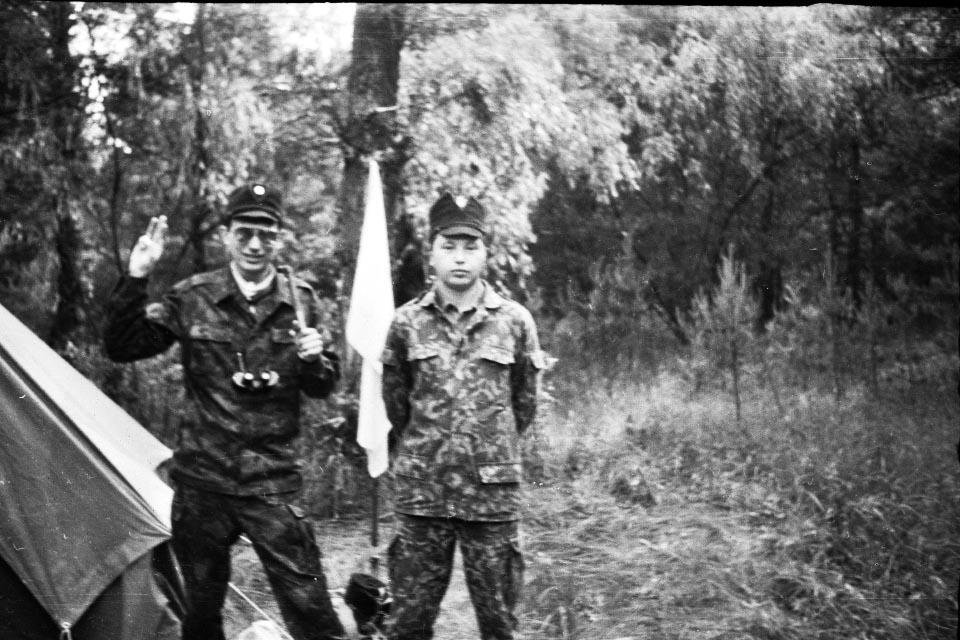 Валерій Пальчик і Андрій Гринь на вишколі у Нових Санжарах