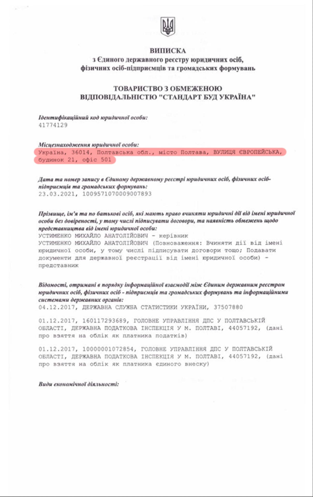 «Стандартбуд» — полтавська організація