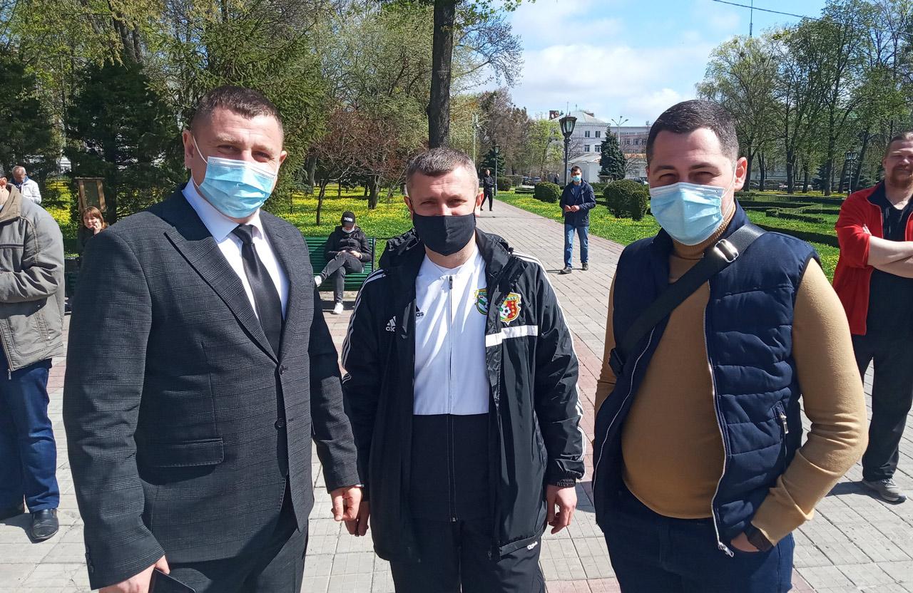 Олексій Чепурко та міський депутат Едуард Волков