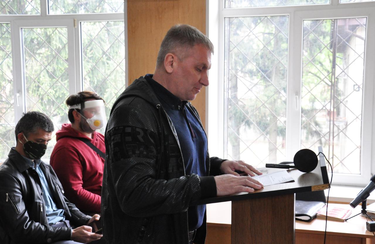 Євгеній Усенко під час виступу