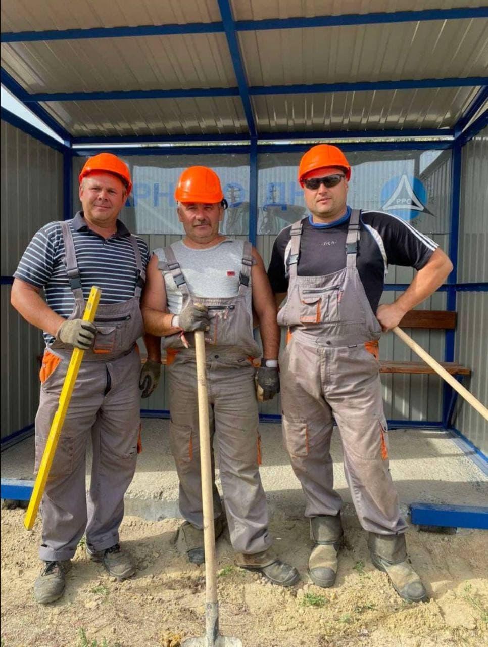 Олег Бершак разом з колегами з Полтавської газонафтової компанії