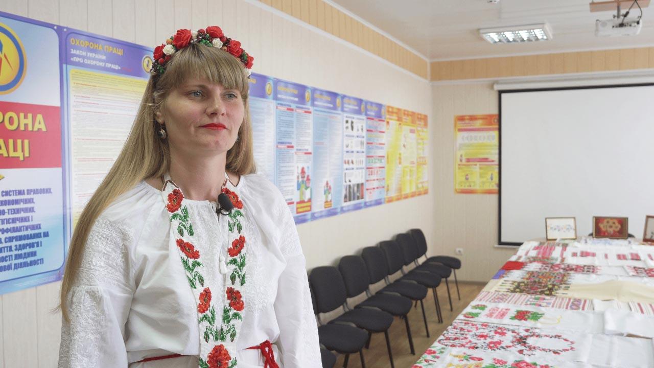 Віта Клімова зберігає родинні рушники