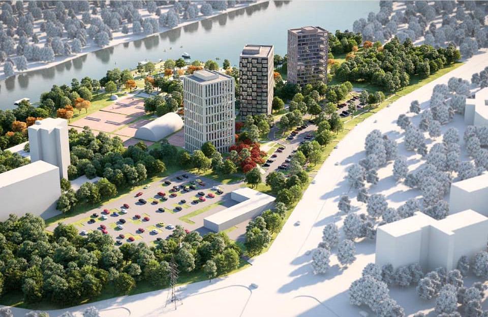 Концепт забудови території між готелем «Турист» та Прирічковим парком   Ілюстрації Project 7