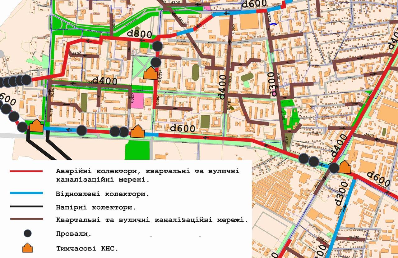 Каналізаційний колектор вздовж вул. Київське шосе є майже суцільно аварійним