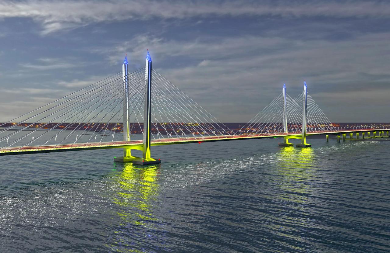 Ескіз проекту нового мосту у Кременчуці