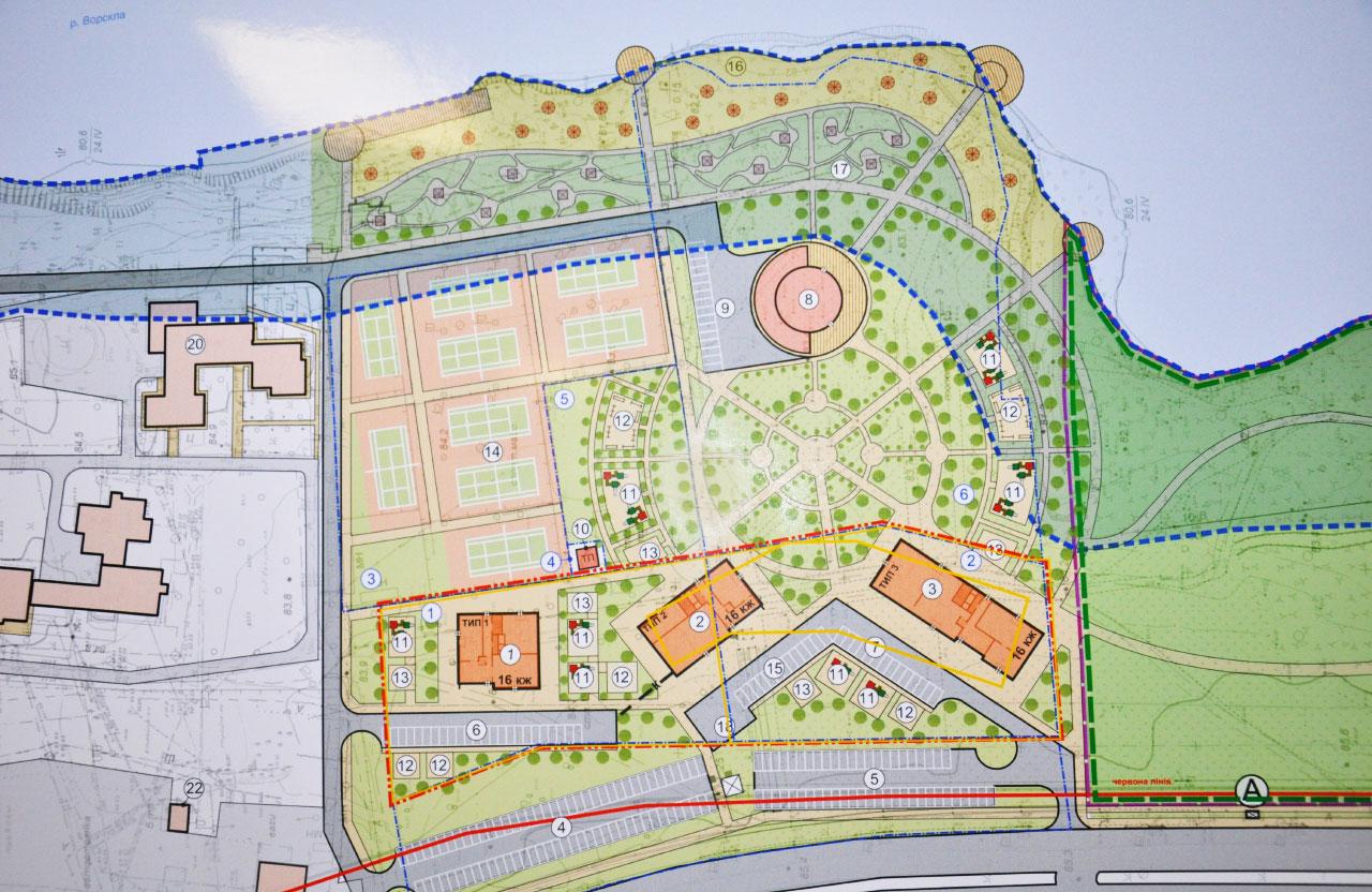 Проект забудови території між Прирічковим парком та готелем «Турист»