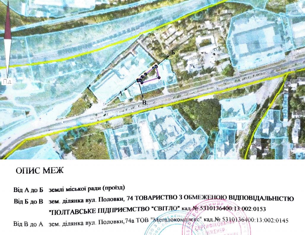 Ділянка площею 1200 м² на вул. Половки