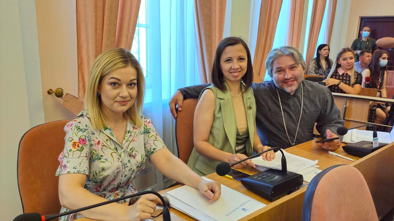 Юлія Костенко, Юлія Городтачіна та Олександр Дедюхін.