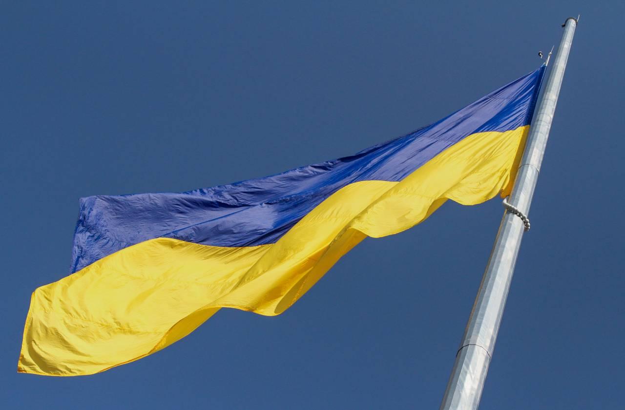 Під час виконання Державного гімну, прапор України було піднято на висоту 50-метрів
